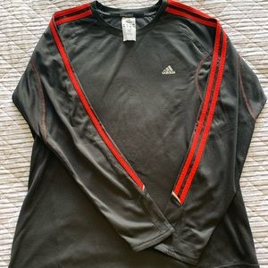 Longsleeve Adidas Top with Red Stripes